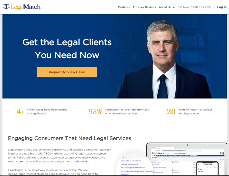 New LegalMatch for Attorneys Site